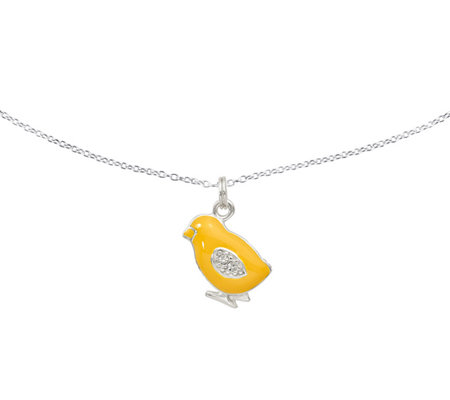Sterling Baby Chick Pendant with Chain by Silver Style
