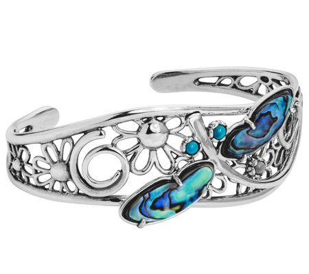 American West by Fritz Casuse Sterling Dragonfly Cuff