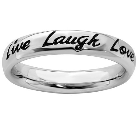 Simply Stacks Sterling Live Laugh Love Band Ring