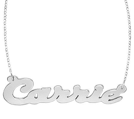 Sterling Polished Personalized Necklace