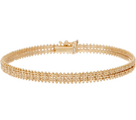 "Imperial Gold 7-1/4"" Starlight Bracelet, 14K Gold, 9.8g"