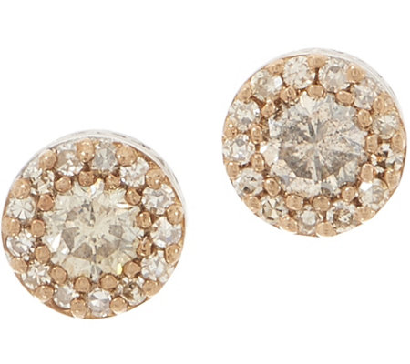 Champagne Diamond Stud Earrings 1 2 Cttw Sterling By Affinity