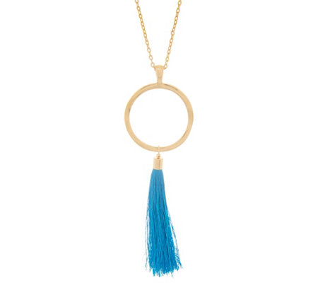 """As Is"" Belle by Kim Gravel EmBELLEish Goldtone Tassel Necklace"
