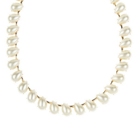 """As Is"" Janie Bryant MOD Simulated Pearl Tear Drop Necklace"