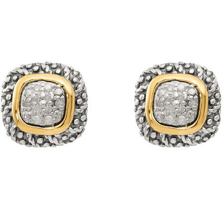 Diamond Post Earrings Sterling 14k 1 10 Cttwby Affinity