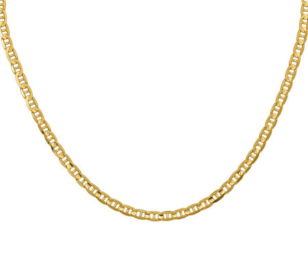 "14K Yellow Gold 18"" Marine Link Necklace, 15.2g"