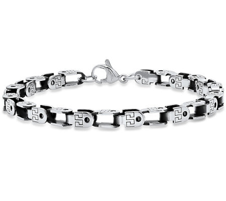 Forza Men's Stainless Steel Bicycle Chain Bracelet