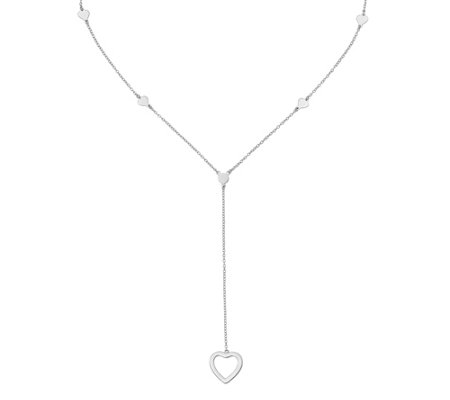 Sterling Hearts Y Necklace By Silver Style
