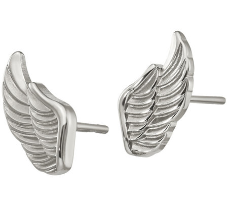Steel by Design Angel Wing Stud Earrings