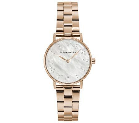 Bcbgmaxazria Women S Rosetone Bracelet Watch