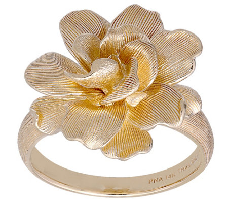 14K Gold Full Bloom Flower Ring