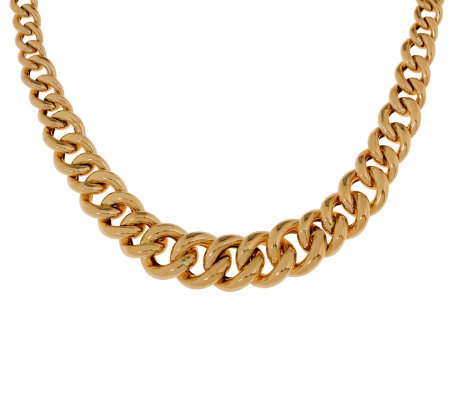 Arte d'Oro Graduated Curb Link Necklace, 18K, 45.50g