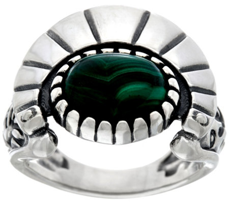 Fritz Casuse Sterling Silver & Malachite Harvest Moon Ring