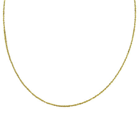 "EternaGold 32"" 019 Singapore Chain Necklace, 14K Gold, 2.3g"