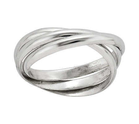 Sterling Triple Intertwined Rolling Ring by Silver Style