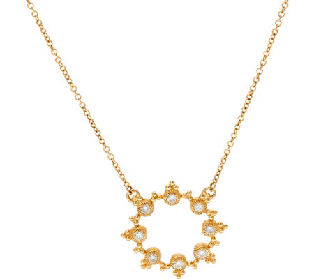 Judith ripka 14k gold 14 cttw diamond circle necklace page 1 judith ripka 14k gold 14 cttw diamond circle necklace aloadofball Gallery