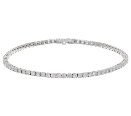 "3.40 cttw Round 8"" Diamond Tennis Bracelet, 14K, by Affinity"