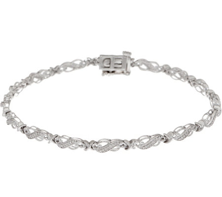 "8"" Diamond Tennis Bracelet 1/4 cttw, Sterling, by Affinity"