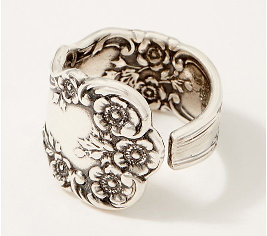 Silver Spoon Sterling Silver Vintage Spoon Adjustable Ring