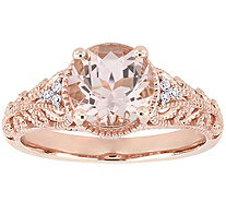 14K 1.75 cttw Morganite & Diamond Accent Vintage-Style Ring - J385309