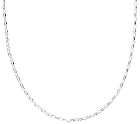 "Judith Ripka Verona Sterling 36"" Textured OvalLink Necklace"