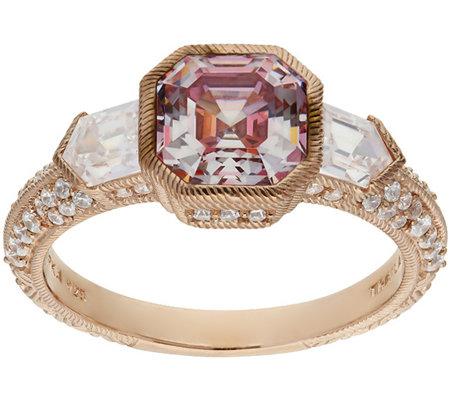 Judith Ripka 14k Clad 2 75 Cttw Asscher Cut Diamonique Ring