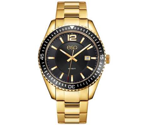 ESQ Men's Goldtone Stainless Steel Watch with Date Window