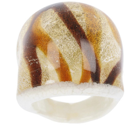 Murano Glass Domed Swirl Ring
