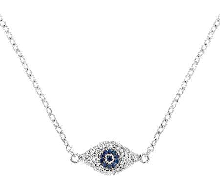 Judith ripka sapphire and diamonique evil eye necklace page 1 judith ripka sapphire and diamonique evil eye necklace aloadofball Images