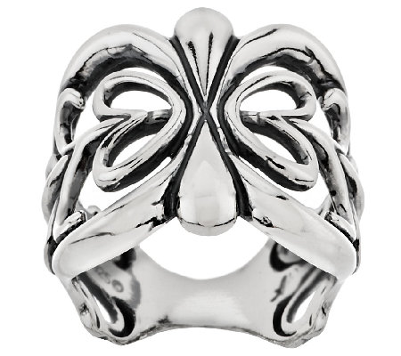 Sterling Scroll Design Band Ring by American West