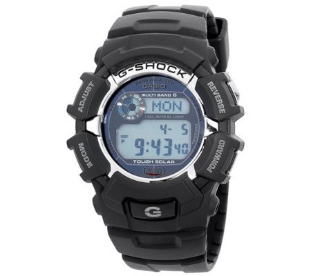 Casio Men S G Shock Solar Atomic Digital Sportswatch Qvc Com