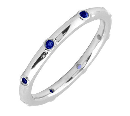 Simply Stacks Sterling Sapphire Multi-stone Stackable Ring