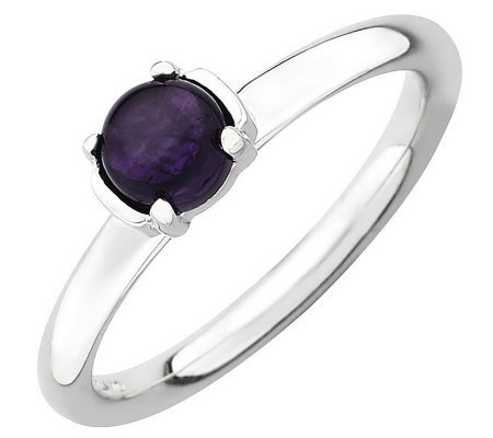 Simply Stacks Sterling Polished Gemstone Ring
