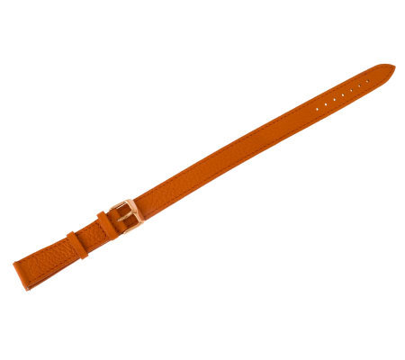 Bronzo Italia 18mm Double Wrap Leather Strap -Orange