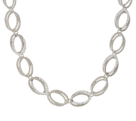 Judith Ripka Sterling 1.85 cttw Diamonique Link Necklace