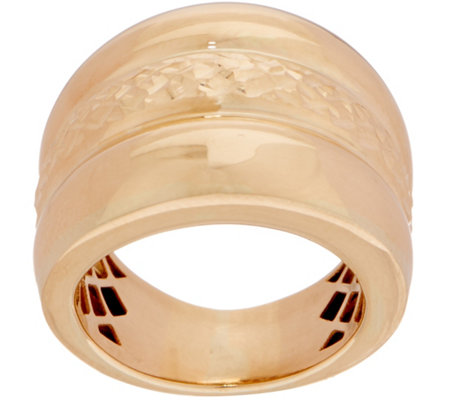 """As Is"" Italian Gold Triple Row Band Ring, 14K Gold"