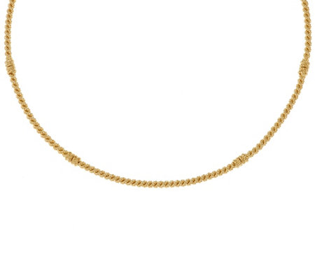 """As Is"" Judith Ripka Sterling & 14K Clad 18"" Textured Collar Necklace"