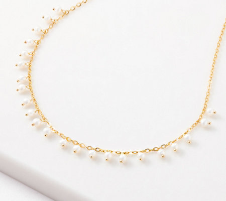 "Honora 14K Gold Cultured Pearl Dangle 18"" Necklace"