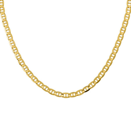 14k Yellow Gold 20 Marine Link Necklace 28 7g
