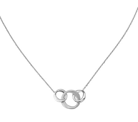 Italian Collection Circles Necklace Sterling, 3.8g
