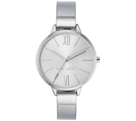 Nine West Ladies Silvertone Tingdeigh Bangle Watch