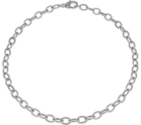 "Judith Ripka Verona Sterling 18"" Rolo Link Necklace, 14.0g"