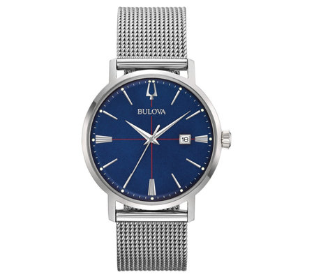 Bulova Men's AeroJet Stainless Steel Mesh Bracelet Watch