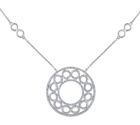 Affinity 14K 1.00 cttw Circle & Infinity Station Necklace