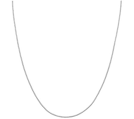 "Italian Silver 22"" Adjustable Box Necklace, 5.1g"