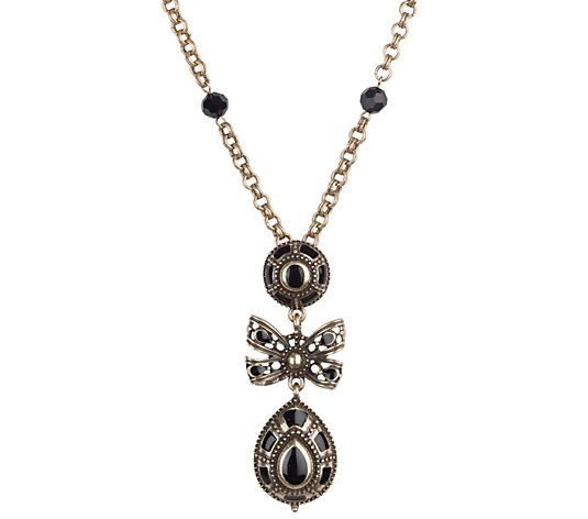 Linea by Louis Dell'Olio Victorianna Bow Necklace