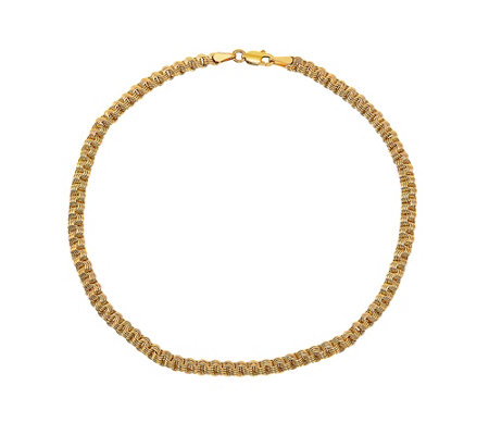 """New 14kt Yellow Gold Anklet 10/"""" Extension Convert to Necklace-Free Shipping!"""