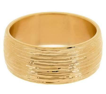 """As Is"" Oro Nuovo Large Bold Textured Round Bangle, 14K Gold"