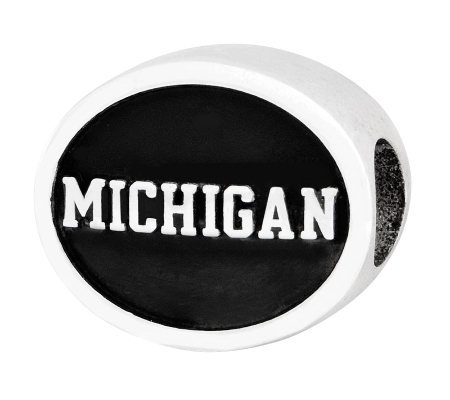 Sterling Silver University of Michigan Bead