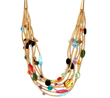 Linea By Louis Dell Olio Goldtone Mardi Gras Multi Necklace